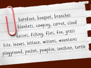 One Great Backyard: Get Outside and Play-Fall Spelling Words