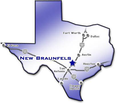 Texas Map New Braunfels