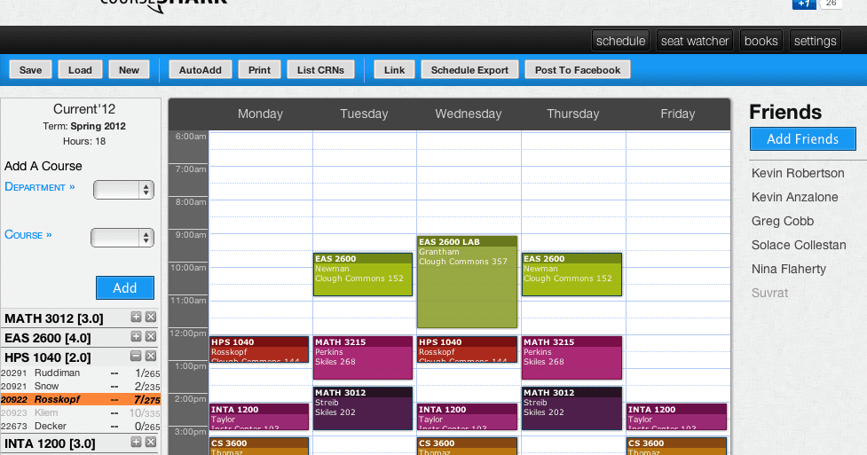 schedule maker college