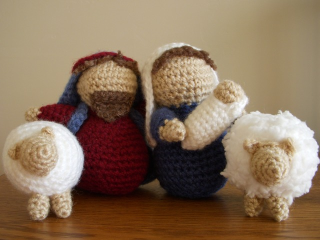 The Crafty Cattery: Amigurumi Nativity: Crocheted Sheep Pattern