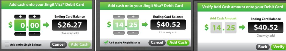Jingit Money earned and Transferred to my Jingit visa debit card