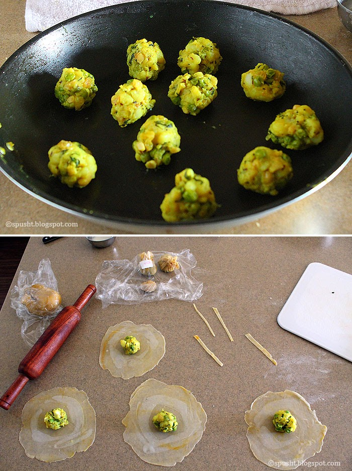 Spusht   How to make Potli Samosa snack