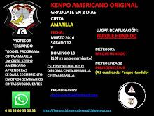 SEMINARIO Graduate en 2 dias Cinta Amarilla Kenpo Americano Original