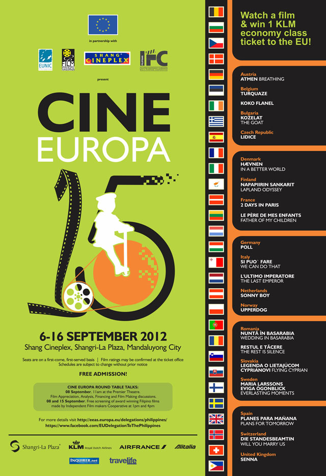 European movies, Shang Cineplex, Cine Europa
