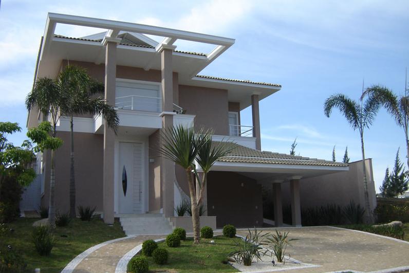 Fachadas de casas com p rticos veja modelos modernos e for Casas ultramodernas
