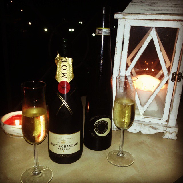 Instagram @lelazivanovic. Moet & Chandon champagne. Birthday celebration.