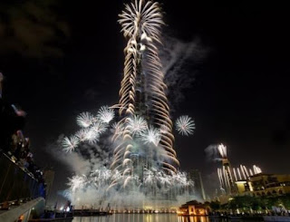 New Year 2012 Eve Celebrations, United Arab Emirates, in Dubai, Fireworks on the Burj Khalifa Skyscraper -Travel Europe Guide