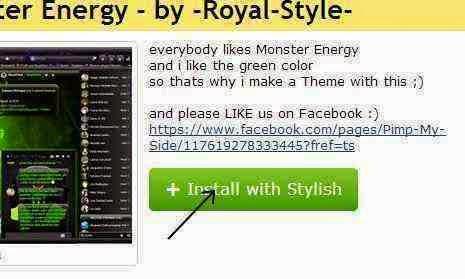Mengubah tampilan facebook