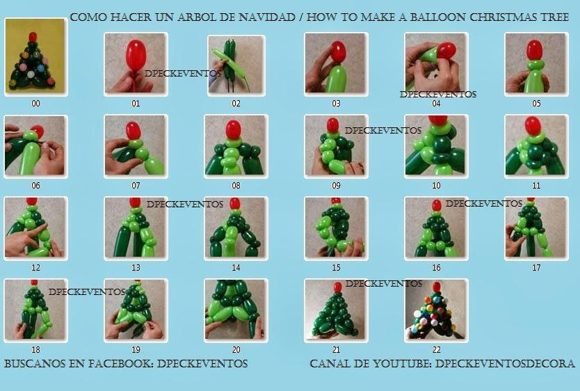 D 39 peck eventos decoraciones como hacer un arbol de - Como hacer un arbol de navidad ...
