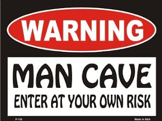 warning man cave enter at your own risk metal sign