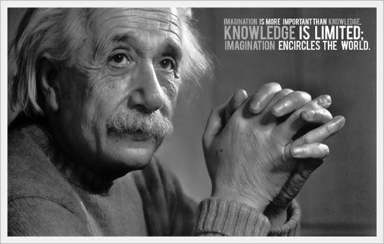 Gambar Kata Mutiara Albert Einstein tentang ilmu dan pengetahuan