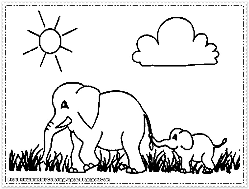can download and print out this free printable elephant coloring pages title=
