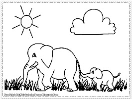 Elephant Animal Coloring Pages Printable