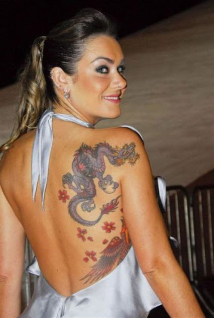 Girl Dragon Tattoo