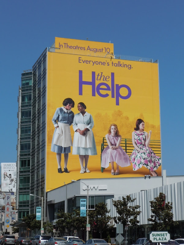 Giant The Help billboard Sunset Strip