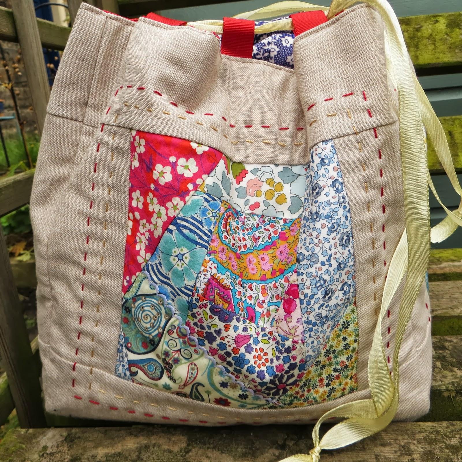 How To Make A Komebukuro Bag Part 1 Liberty Patchwork Exteriors