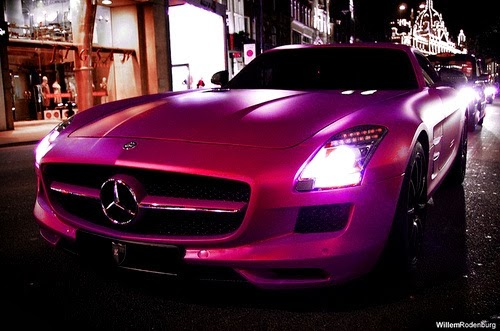 New super cars for Pink mercedes benz
