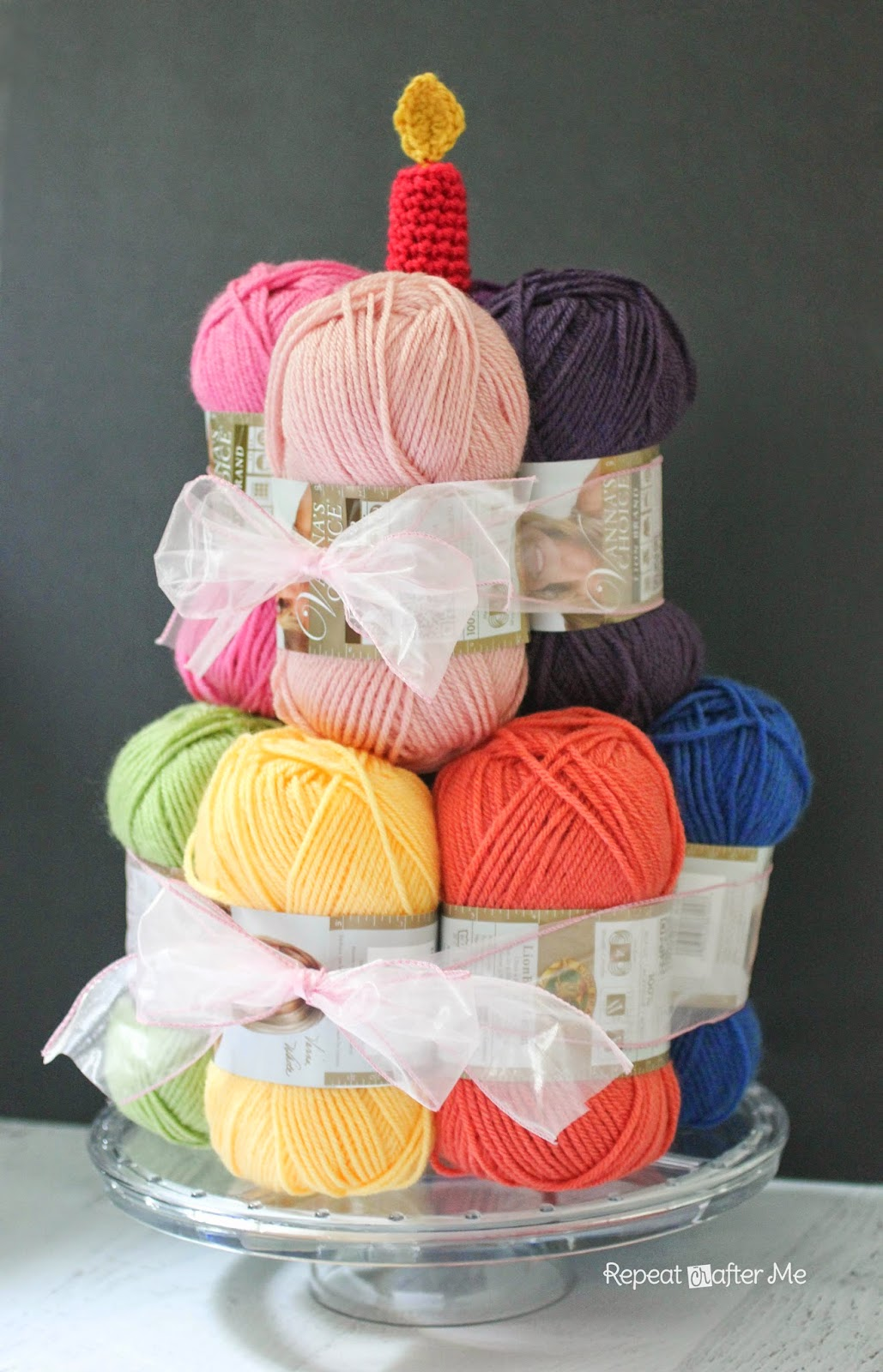 Knitting Birthday Meme : Repeat crafter me yarn cake with a crochet candle