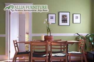 Ruang meja makan konsep sederhana