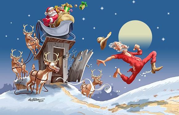 Santa's Surprise christmas art