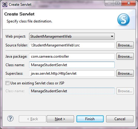 Create a Servlet in Eclipse