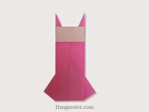 Cách gấp, xếp váy liền thân bằng giấy origami - Video hướng dẫn xếp hình quần áo - How to fold a One Piece dress