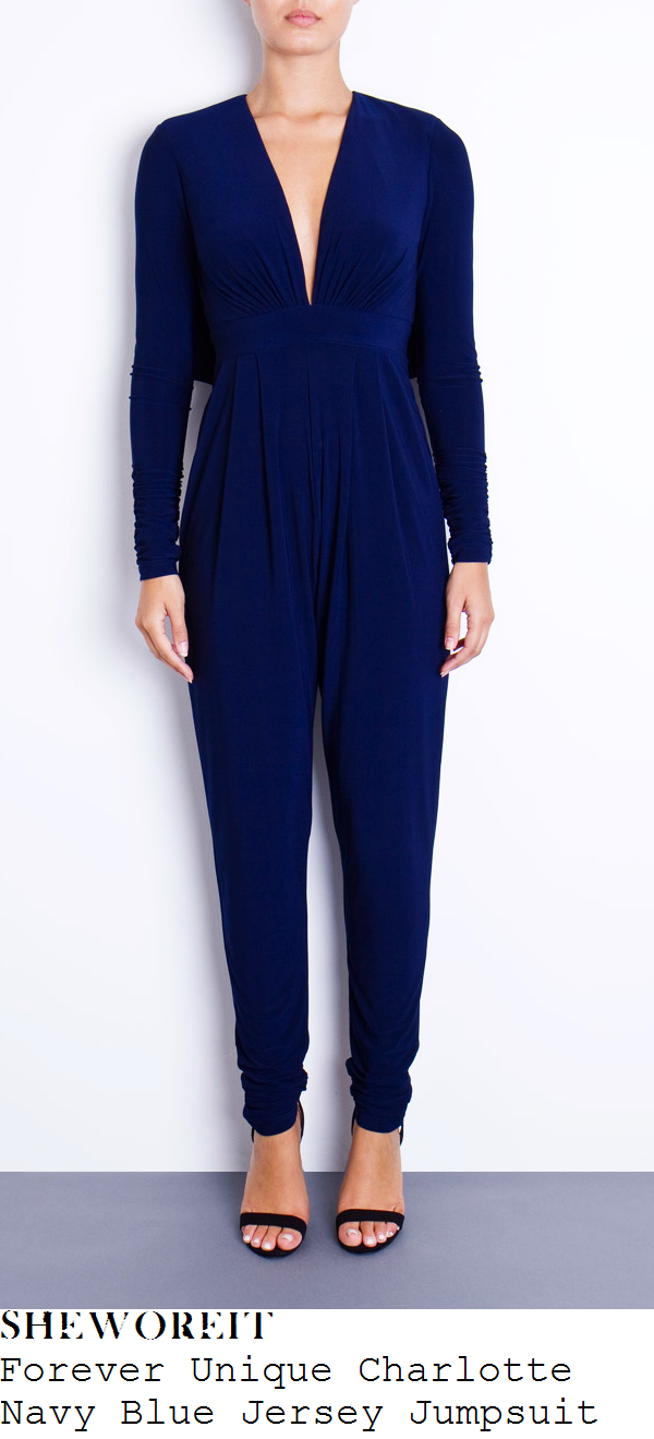 kimberley-walsh-navy-blue-plunge-front-long-sleeve-jumpsuit