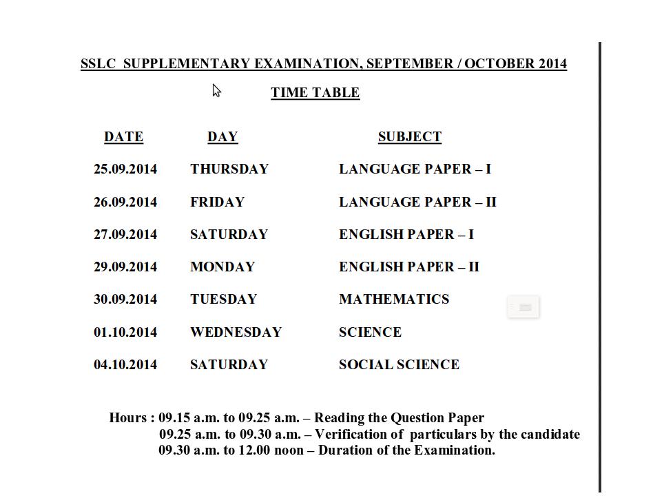 Result ]Tamilnadu SSLC / 10th Private Exam September / October.