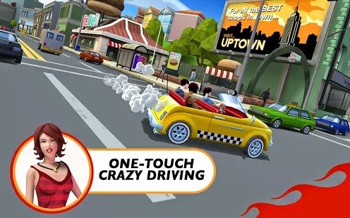 Crazy Taxi™ City Rush v1.0.2 Apk+Obb+Mod
