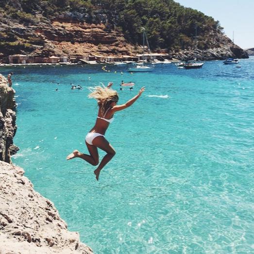 cliff jump jumping sea summer bucket list ideas bucket-list