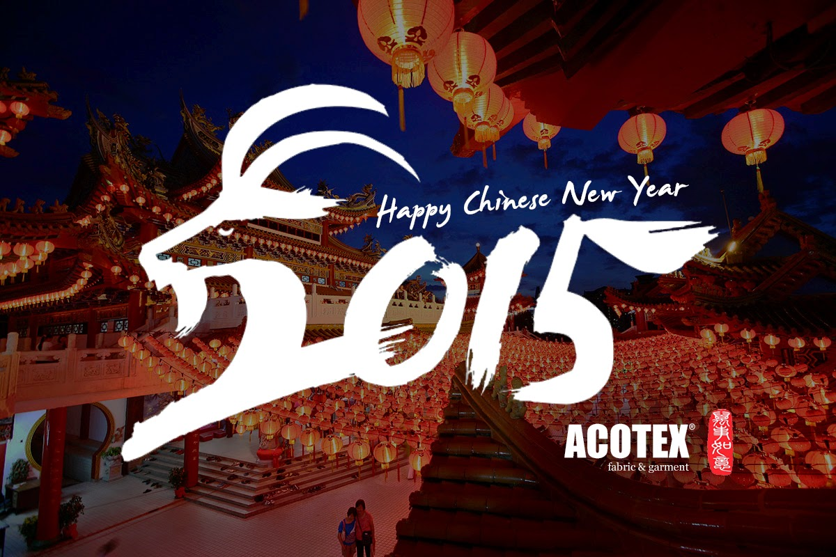 ACOTEX祝各位新年快樂,羊年行大運 | Happy Chinese New Year, 2015 Year of Goat