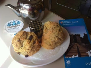 National Trust scones at Bodiam Castle
