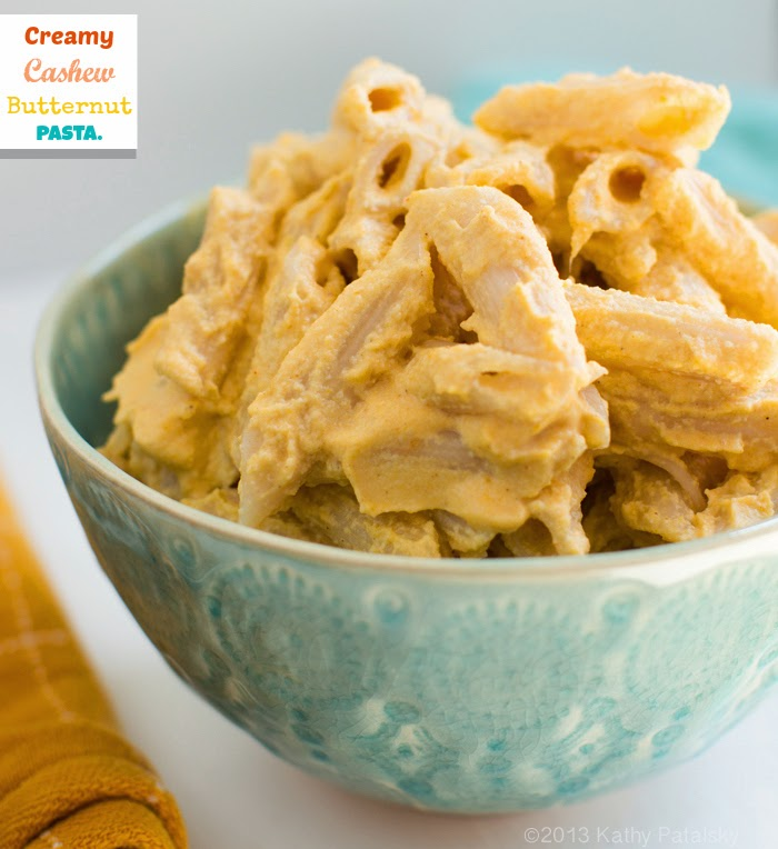 Creamy Cashew Butternut Pasta Easy Fall Entree Comfortfood