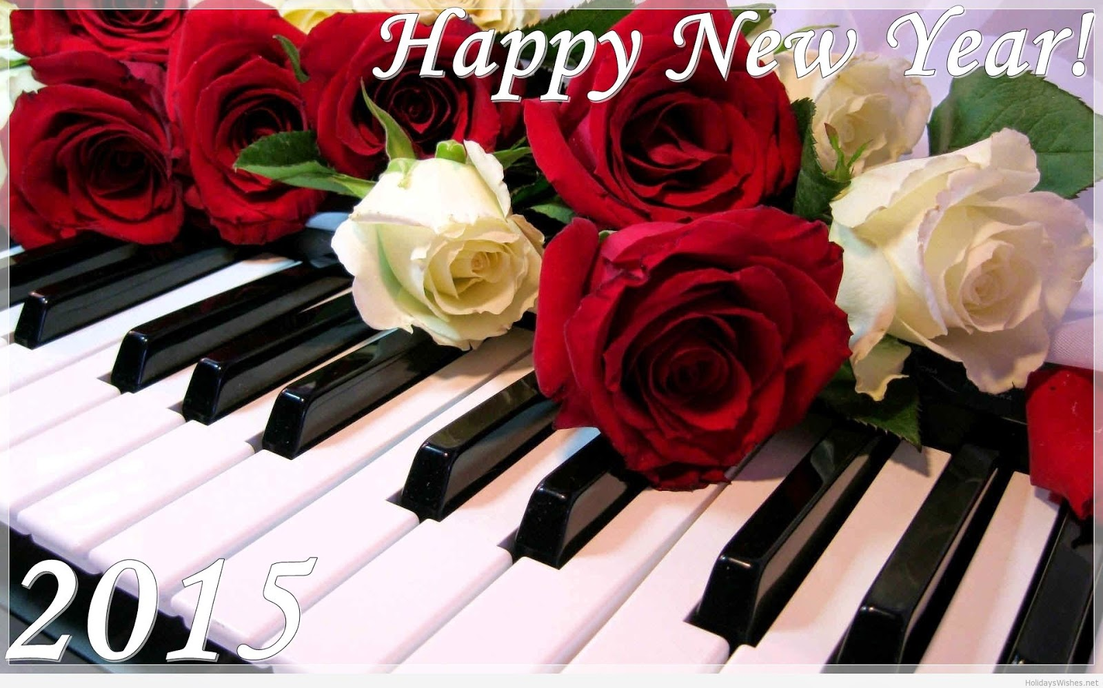 Happy New Year 2015 Rose Photo Free Download