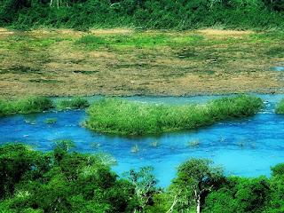 Vista da trilha do mirante no Parque Moconá.