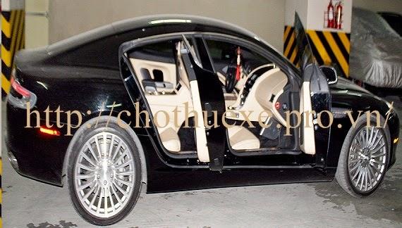 Cho thuê siêu xe Aston Martin Rapide Đen  Ducvinhtrans