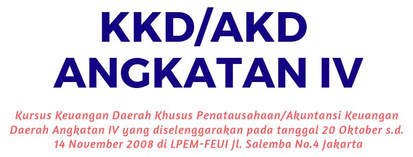 KKD/AKD ANGKATAN IV TAHUN 2008
