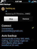 Steps to backup text messages