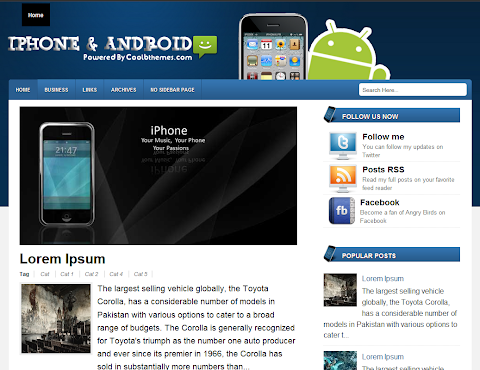 iPhone And Android Blogger Theme