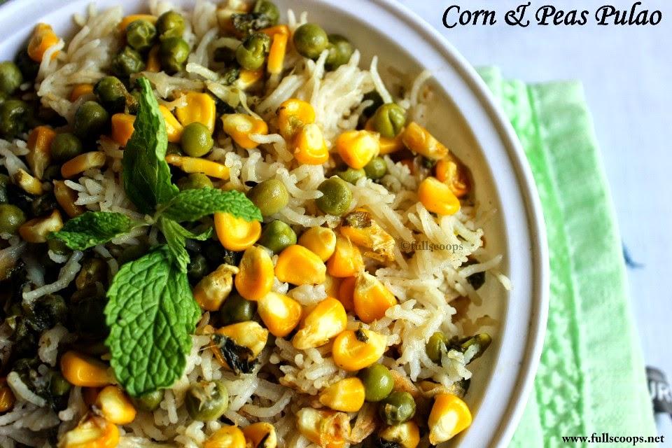Corn & Peas Pulao