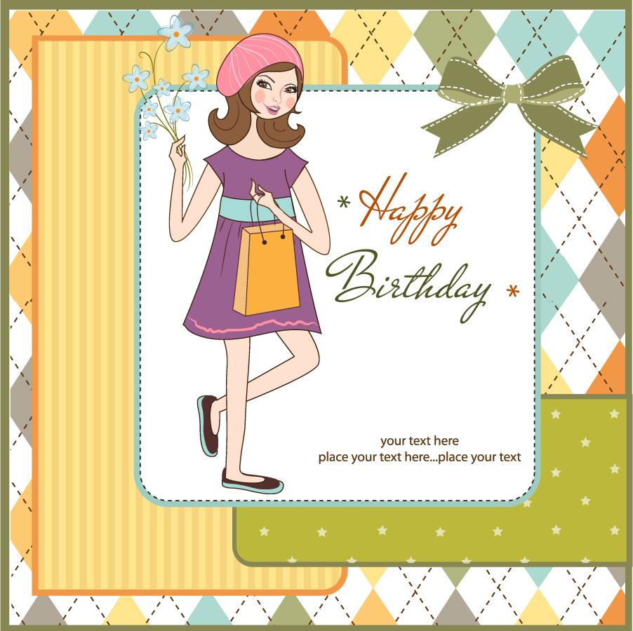 可愛いバースデー カードの背景 cute birthday card background イラスト素材
