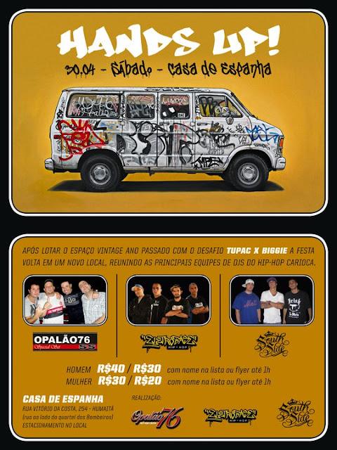 # HANDS UP une equipes cariocas de hip hop | Sabado, 30/04 | Casa de España (RJ)