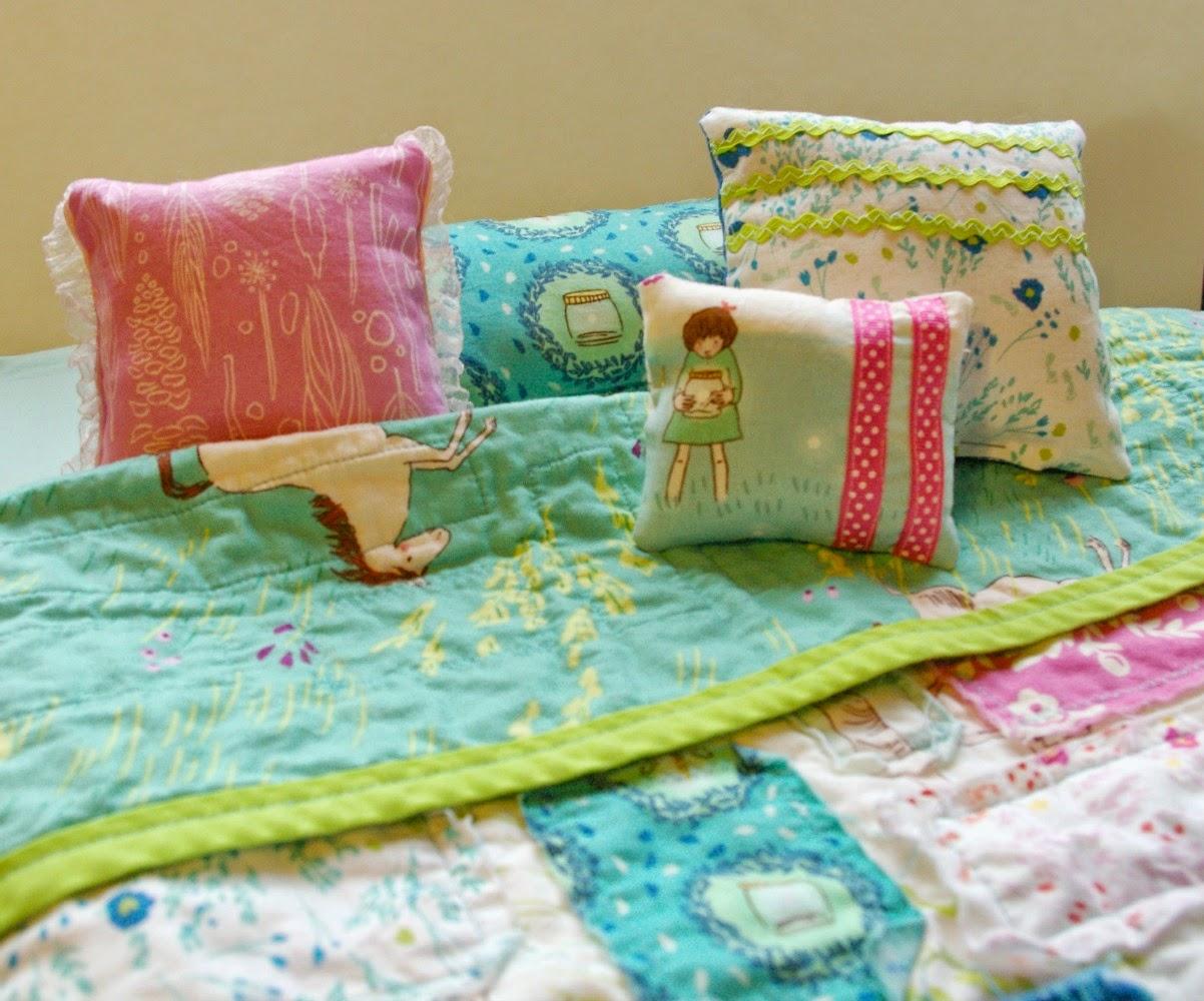 Handmade christmas diy american girl doll bed bedding and storage