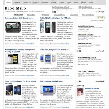 Blog Mild blogger template with featured content template and 4 column fotter template. blog magazine template blogspot