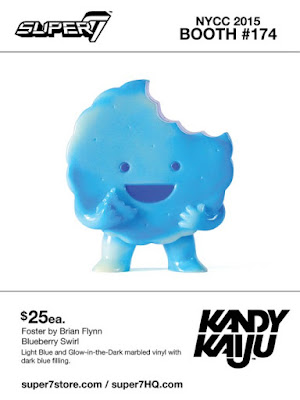 "New York Comic Con 2015 Exclusive Kandy Kaiju ""Blueberry Swirl"" Foster Vinyl Figure by Super7 & Brian Flynn"