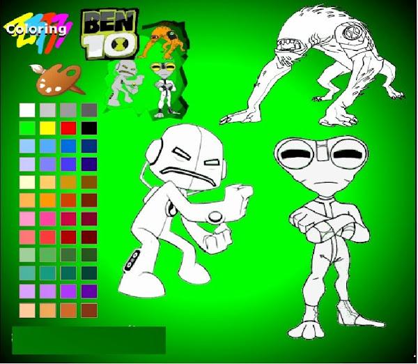Ben 10 Ultimate Alien Coloring Sheets