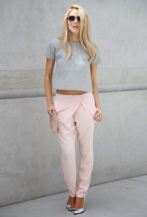 Pale pink & soft grey