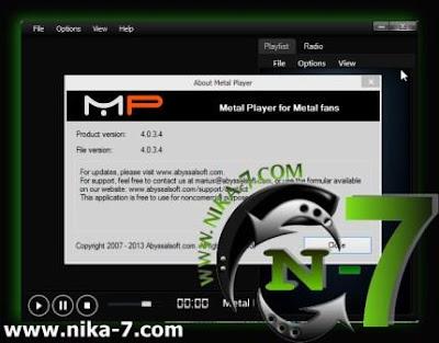 Metal Player 4.0.3.4 Full Version