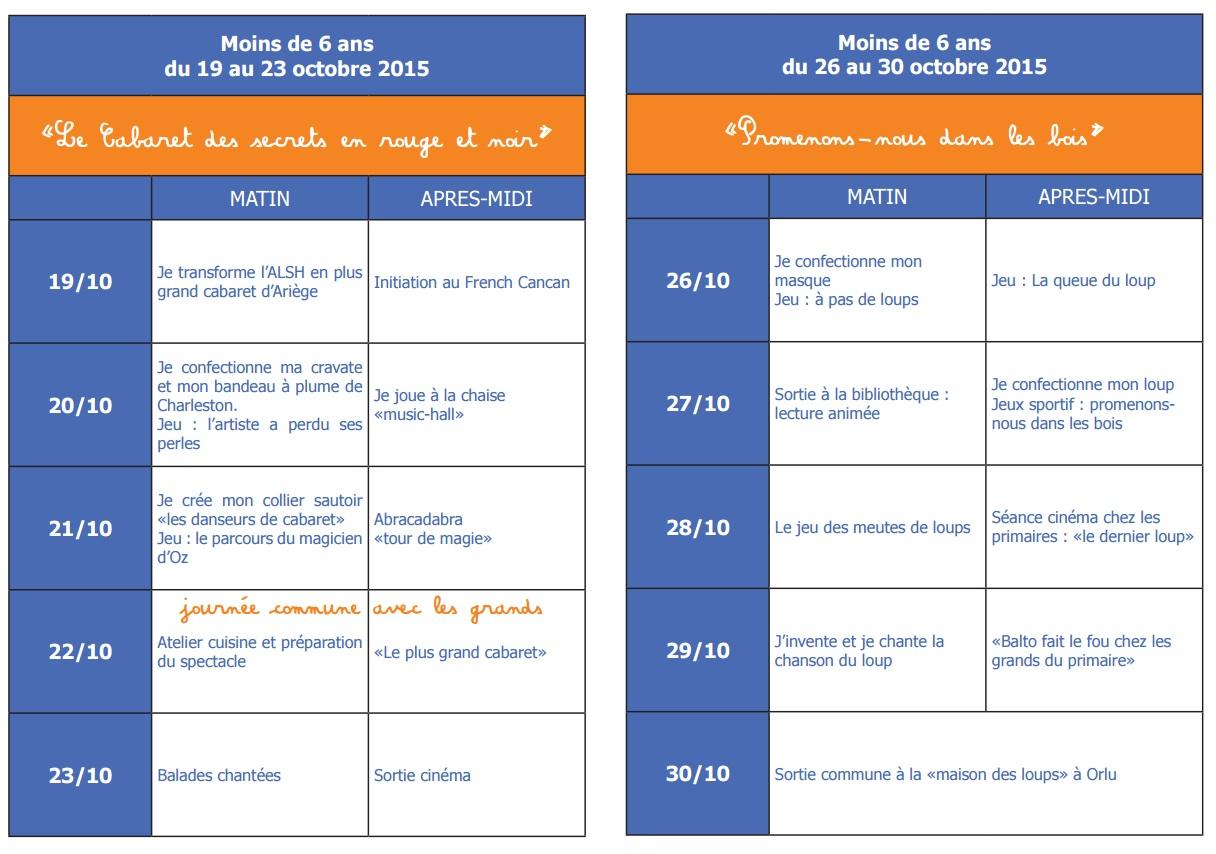 Centre de loisirs de saverdun vacances d 39 automne 2015 Vacances automne 2015