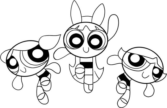 Power Puff Girls Coloring Pages